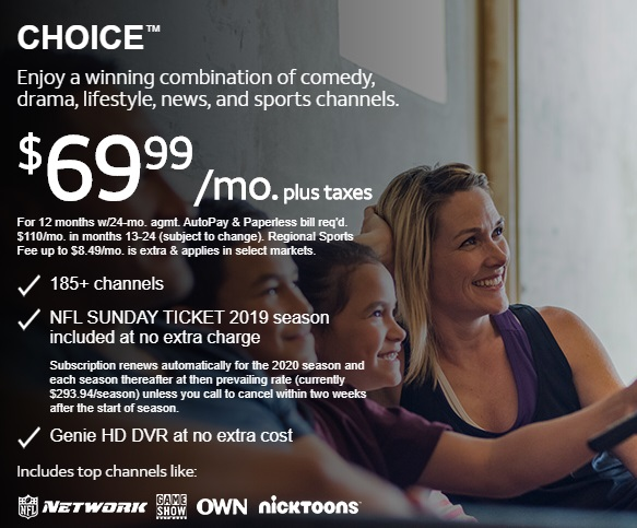 DIRECTV TV PACKAGES Choice™ Offered by Sun Comm Technologies Inc 505-424-7223
