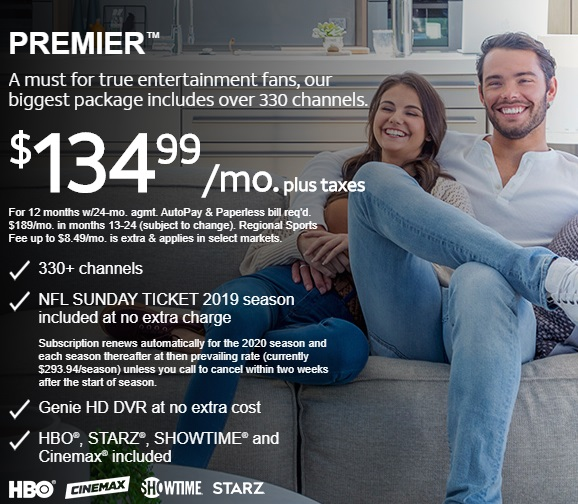 DIRECTV TV PACKAGES PREMIER™ Offered by Sun Comm Technologies Inc 505-424-7223